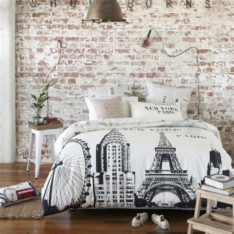 travel bedding modern paris room decor ideas