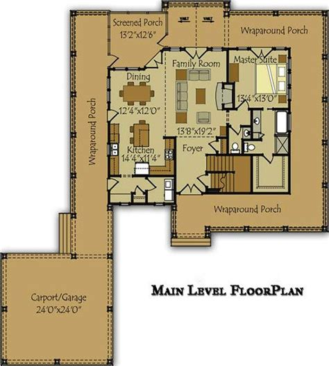 floor plans with wrap around porches 3 bedroom open floor plan with wraparound porch and