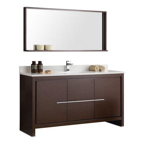 modern bathroom vanity dands virtual mega fresca allier 60 quot wenge brown modern single
