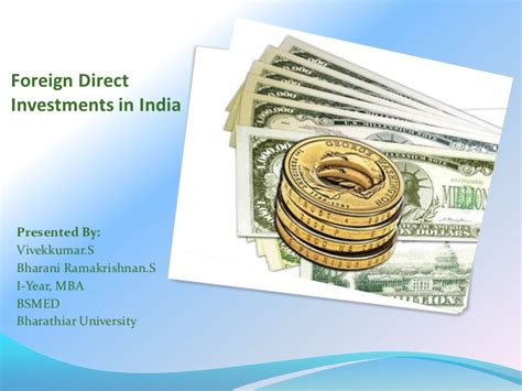 Foreign Mba In India by Foreign Direct Investment In India
