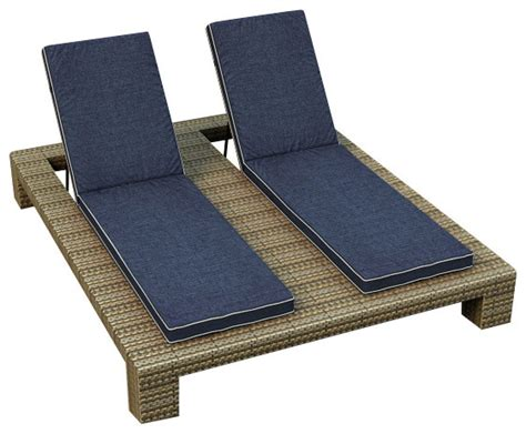 outdoor double chaise lounge cushions hton double adjustable chaise lounge heather wicker