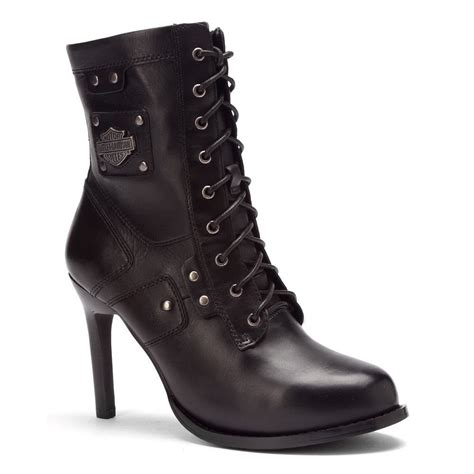 black lace up motorcycle boots harley davidson women s vikki casual lace up motorcycle
