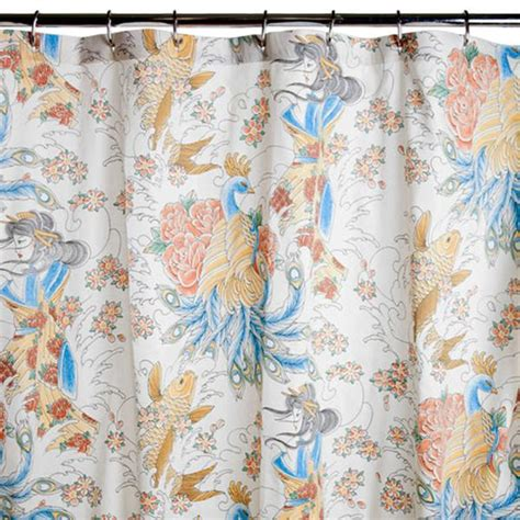 tattoo curtains shower curtains sin in linen