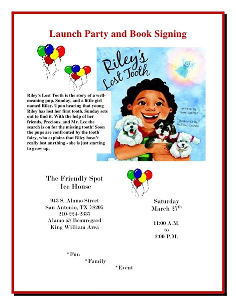 book signing poster template launch and book signing flyer