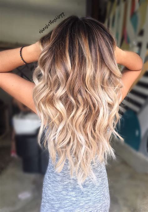 brunette to blonde ombre hair color trends 2017 2018 highlights balayage
