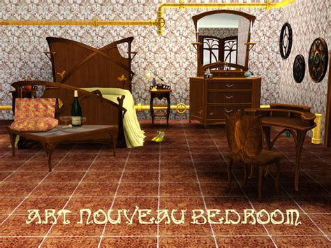 shinokcrs art nouveau bedroom