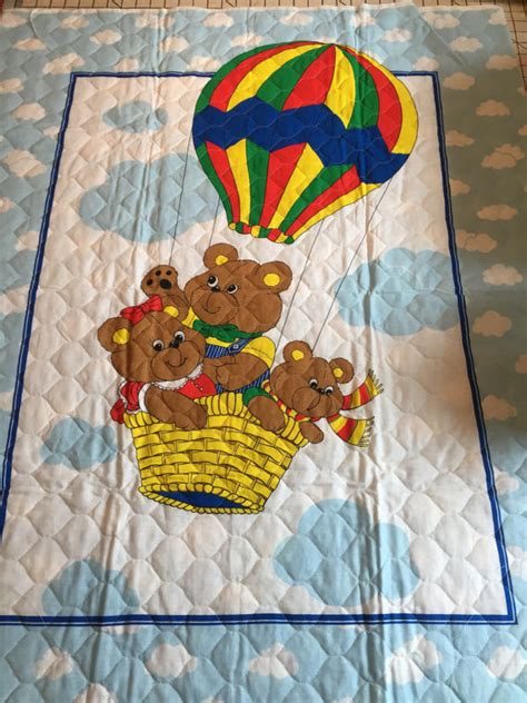 Quilted Baby Fabric by Pre Quilted Baby Quilt Fabric Panel Teddy And Air