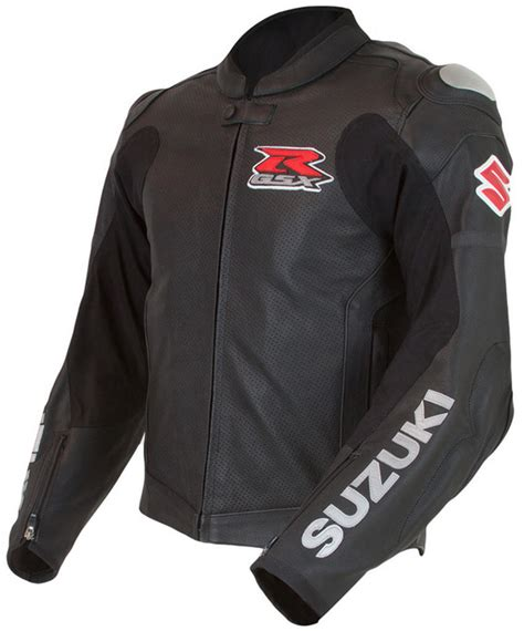 suzuki riding jacket suzuki gsxr gixxer gsx r leather riding jacket black ebay