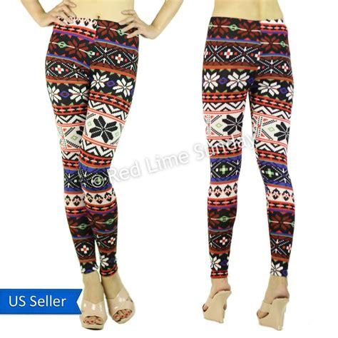 cute tribal pattern leggings cute colorful aztec tribal nordic pop warm winter leggings