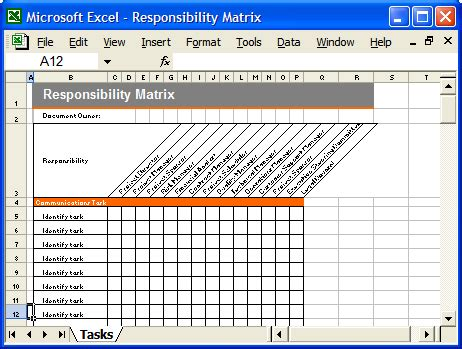 document distribution matrix template communication plan templates ms word and excel