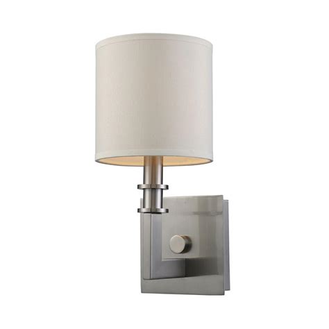 springs 1 light bath sconce titan lighting seven springs 1 light satin nickel sconce
