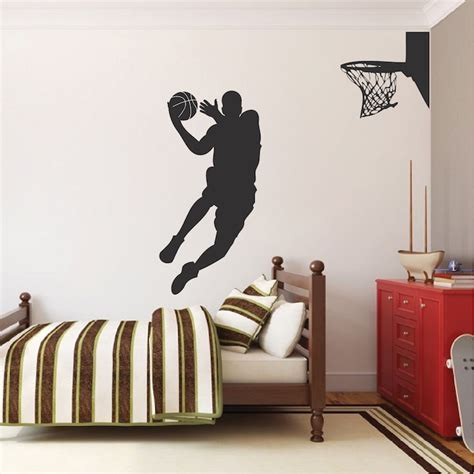 basketball wall stickers basketball player wall decal trendy wall designs