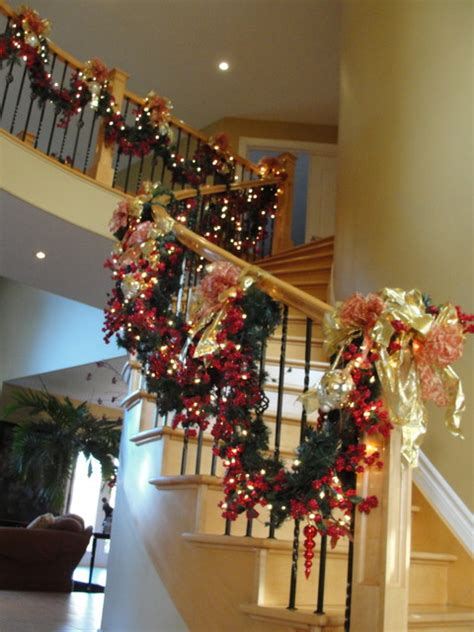 awesome christmas stairs decoration ideas world of decor