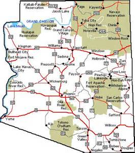 map of arizona and surrounding states arizona hiking and hiking trails on
