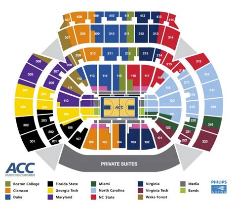 tournament of seating map acc seating images