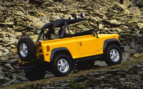 land rover defender 90 yellow 1994 land rover defender 90 soft top photo 4