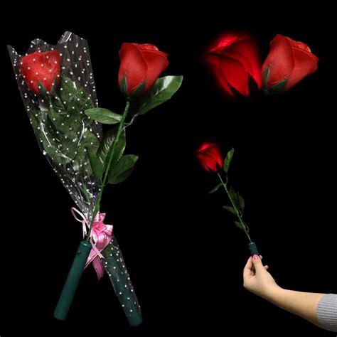 light up red roses led red rose light up novelties