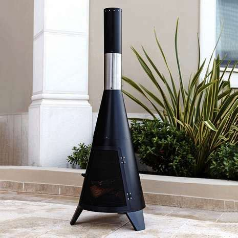 Modern Steel Chiminea 1000 Ideas About Contemporary Chimineas On