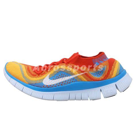 rainbow running shoes nike free flyknit run 5 0 orange blue gradient rainbow