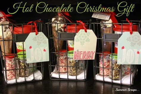 hot chocolate christmas gift idea summer scraps