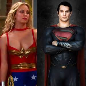 Kaley cuoco superman paint for pinterest