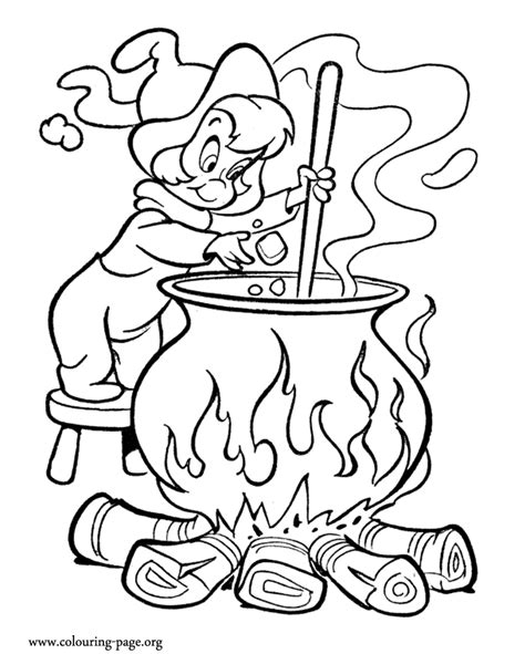 witch cauldron coloring page halloween the little witch and her cauldron coloring page