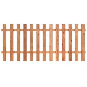 home depot fence sections outdoor essentials 3 1 2 ft x 8 ft western red cedar