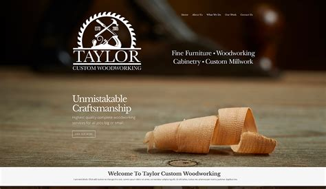 woodworkers web website design for woodworking company by vision