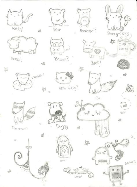 basic doodle drawings simple doodles by thehappydreamer on deviantart