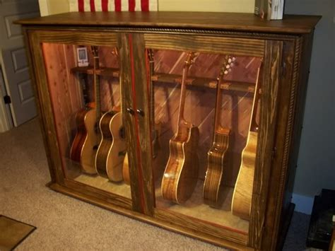 guitar armoire acoustic display case misc pinterest