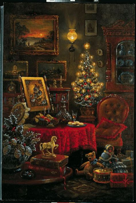 136 best vintage christmas scenes images on pinterest
