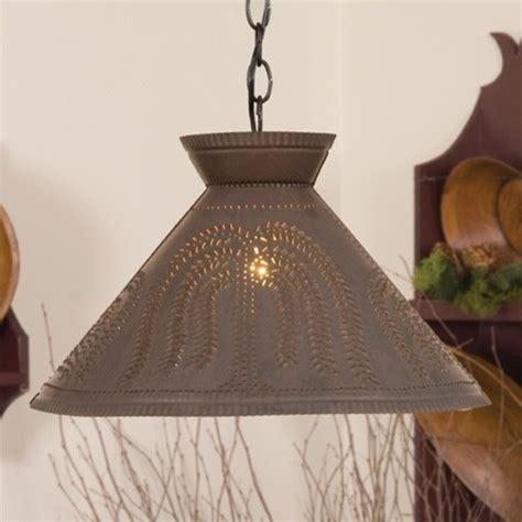pendant light punched tin design