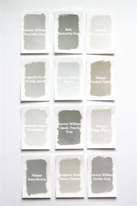gray paint swatches favorite gray paint colors love grows wild