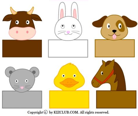 printable animal puppets 43 printable crafts for school and worksheets for kids