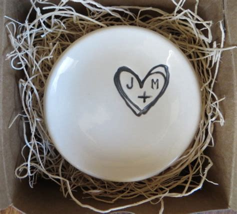 engagement ring holder ring dish wedding gift by