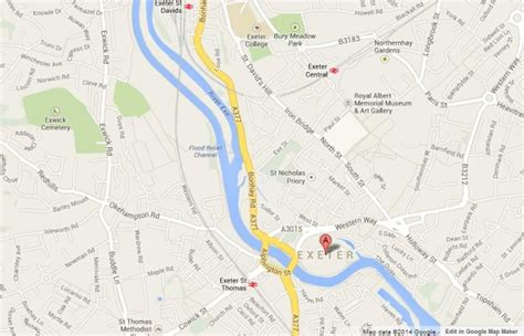 map uk exeter exeter world easy guides