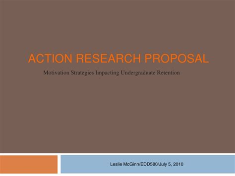 Action Research Proposal Ppt Research Paper Presentation Template