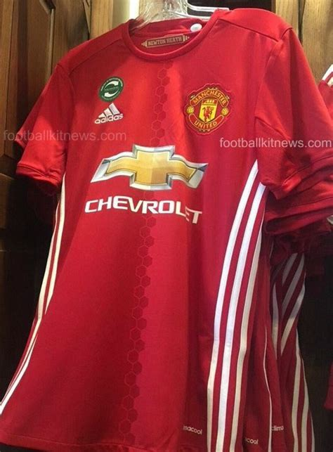 leaked manchester united home kit 2016 17 football kit