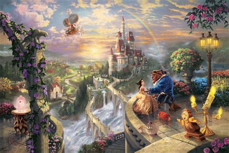 disney wallpaper thomas kinkade thomas kinkade quot disney dreams quot disney princess photo
