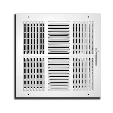 Ceiling Air Register by Decor Grates 6 In X 14 In Scroll White Painted Wall And
