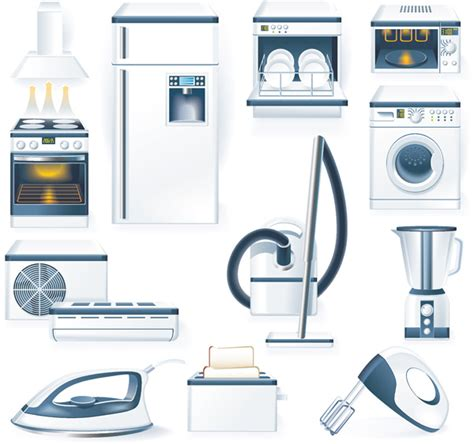Kitchen appliances vector Free Vector / 4Vector
