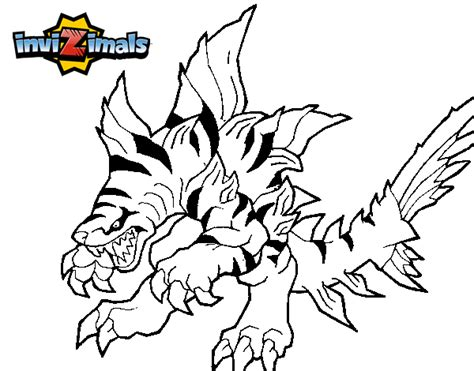 invizimals tiger shark coloring page dibujo de tigershark para colorear dibujos net