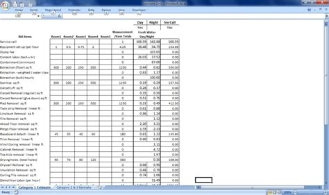 Jobs 100k by Water Damage Invoice Mikey S Board