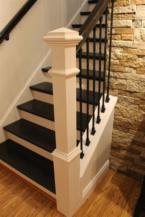 staircase remodel step by step tutorial on how to remodel a carpeted staircase into one with wooden treads and