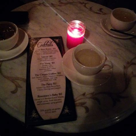 the back room nyc menu part of the drink menu and the teacups yelp