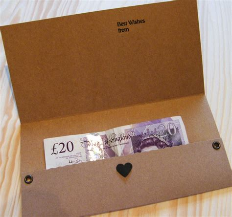 Money Gift Cards Uk - personalised money gift voucher wallet pouch card birthday wedding new home etc