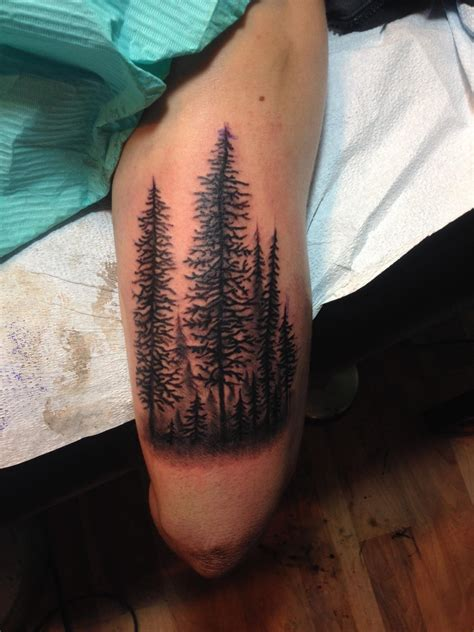 tattoo design for men arm forest on my arm done by joshua dobbs 330 tattoos