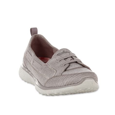 skechers womens microburst topnotch casual shoe taupe
