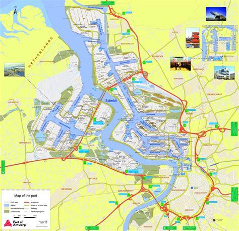 antwerp world map port of antwerp map
