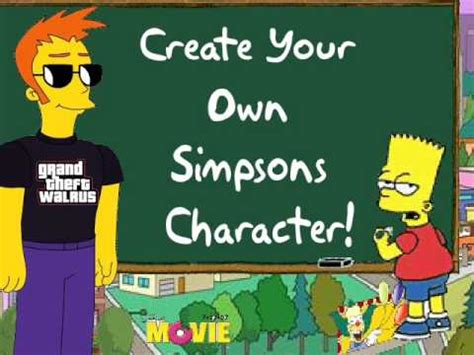 create your own character create your own simpsons character